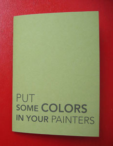 Put some colors in your painters